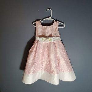 White dotted Pink formal dress